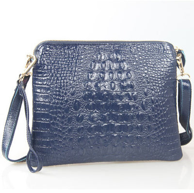 Mila Genuine Leather Crocodile Shoulder Bag - Belle Valoure - 3