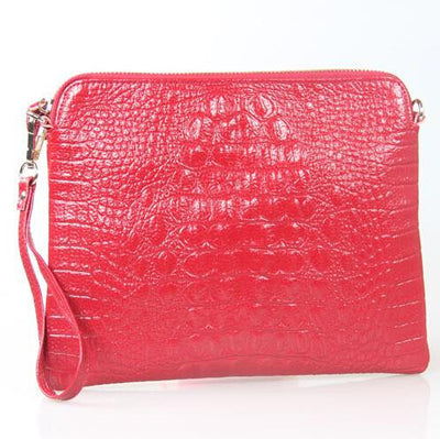 Mila Genuine Leather Crocodile Shoulder Bag - Belle Valoure - 8
