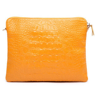 Mila Genuine Leather Crocodile Shoulder Bag - Belle Valoure - 1