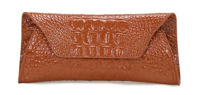 Genuine Leather Alligator Clutch - Belle Valoure - 9
