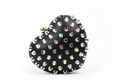 Rivet Heartshaped Clutch - Belle Valoure - 6