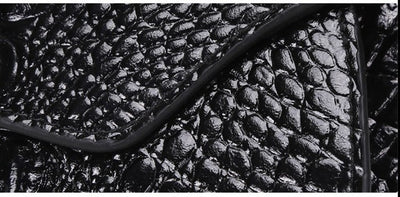Genuine Leather Alligator Clutch - Belle Valoure - 4