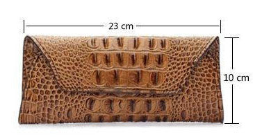 Leather Crocodile Pattern Clutch - Belle Valoure - 5