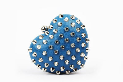 Rivet Heartshaped Clutch - Belle Valoure - 8