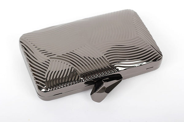 Striped Metal Clutch - Belle Valoure - 4
