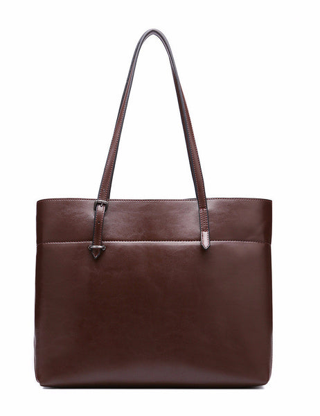 Genuine Leather Tote - Belle Valoure - 2