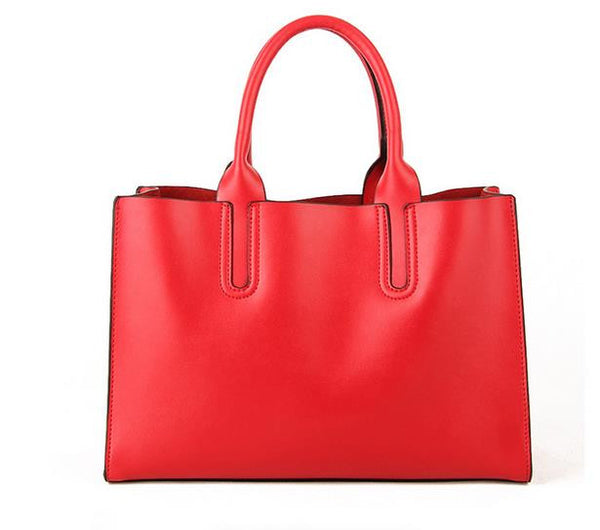 Genuine Leather Tote - Belle Valoure - 11