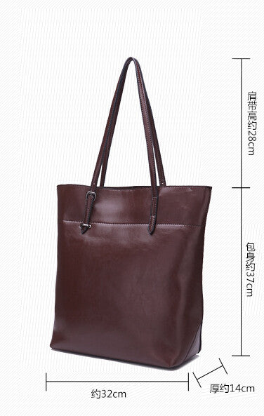 Genuine Leather Tote - Belle Valoure - 20