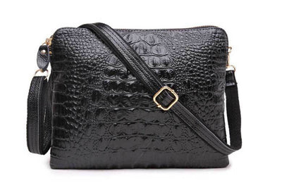 Mila Genuine Leather Crocodile Shoulder Bag - Belle Valoure - 2