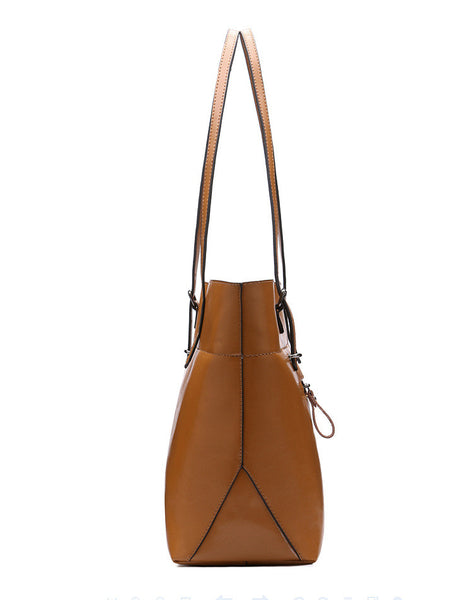 Genuine Leather Tote - Belle Valoure - 21