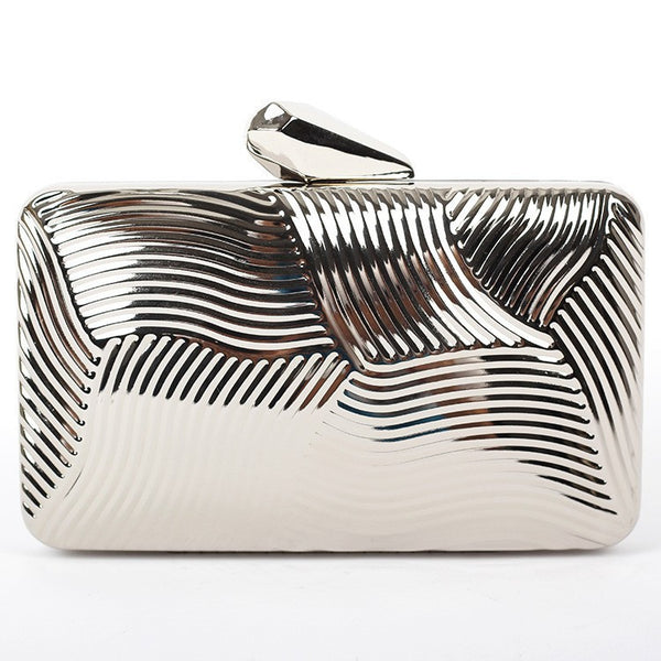 Striped Metal Clutch - Belle Valoure - 7