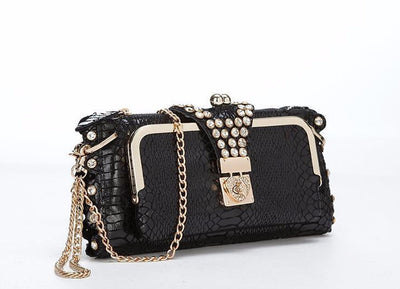 Genuine Leather Crocodile Clutch - Belle Valoure - 2