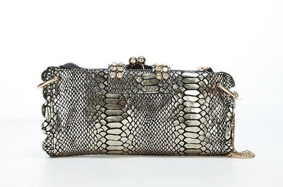 Genuine Leather Crocodile Clutch - Belle Valoure - 5