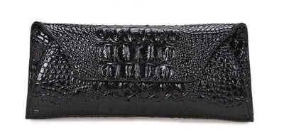 Genuine Leather Alligator Clutch - Belle Valoure - 12