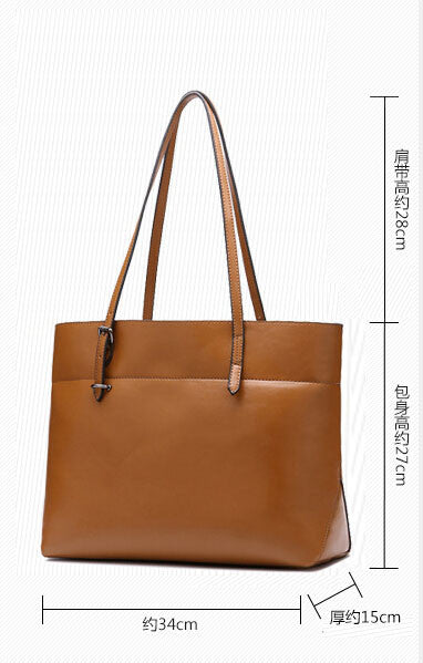 Genuine Leather Tote - Belle Valoure - 3