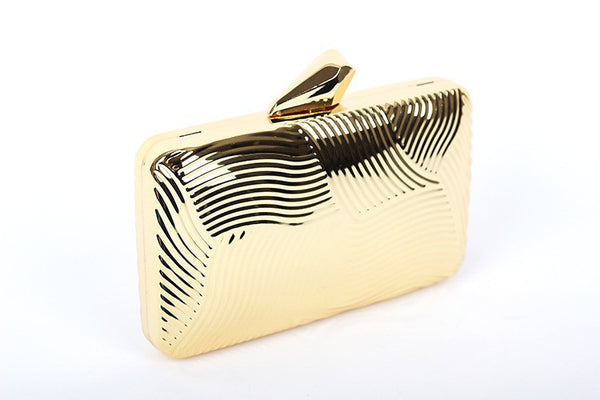 Striped Metal Clutch - Belle Valoure - 8