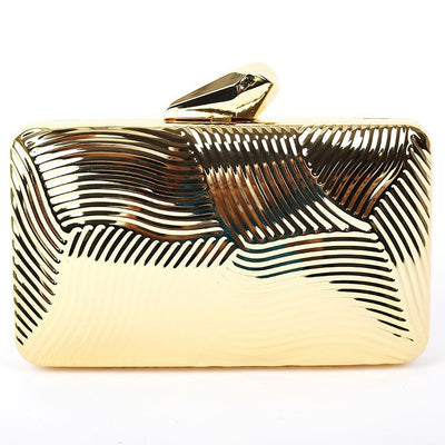 Striped Metal Clutch - Belle Valoure - 3