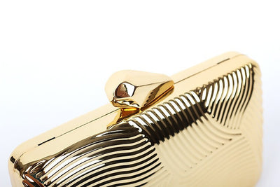 Striped Metal Clutch - Belle Valoure - 10