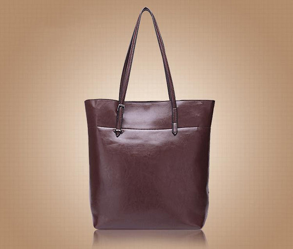 Genuine Leather Tote - Belle Valoure - 14