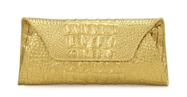 Genuine Leather Alligator Clutch - Belle Valoure - 13