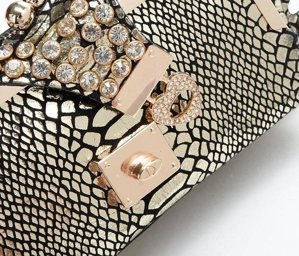 Genuine Leather Crocodile Clutch - Belle Valoure - 10
