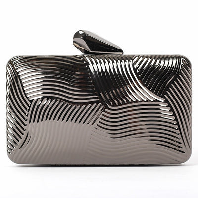 Striped Metal Clutch - Belle Valoure - 5