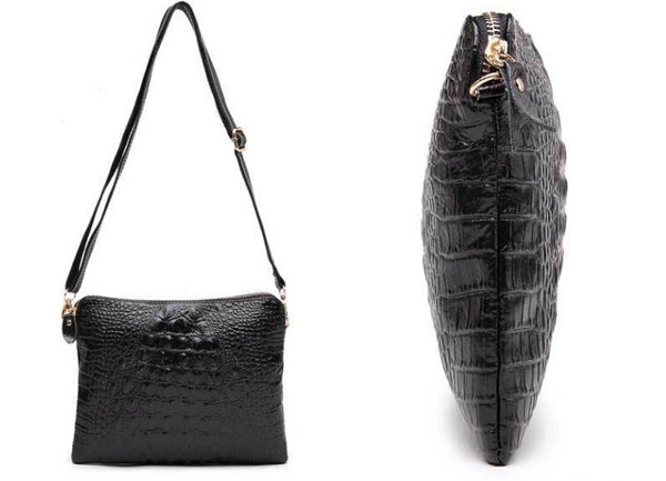 Mila Genuine Leather Crocodile Shoulder Bag - Belle Valoure - 13