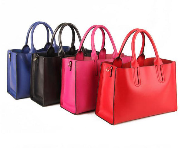 Genuine Leather Tote - Belle Valoure - 8