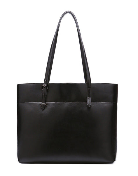 Genuine Leather Tote - Belle Valoure - 9