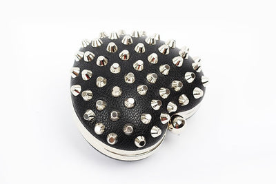 Rivet Heartshaped Clutch - Belle Valoure - 2
