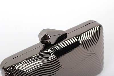 Striped Metal Clutch - Belle Valoure - 6