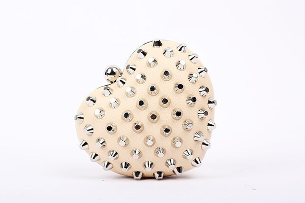 Rivet Heartshaped Clutch - Belle Valoure - 11