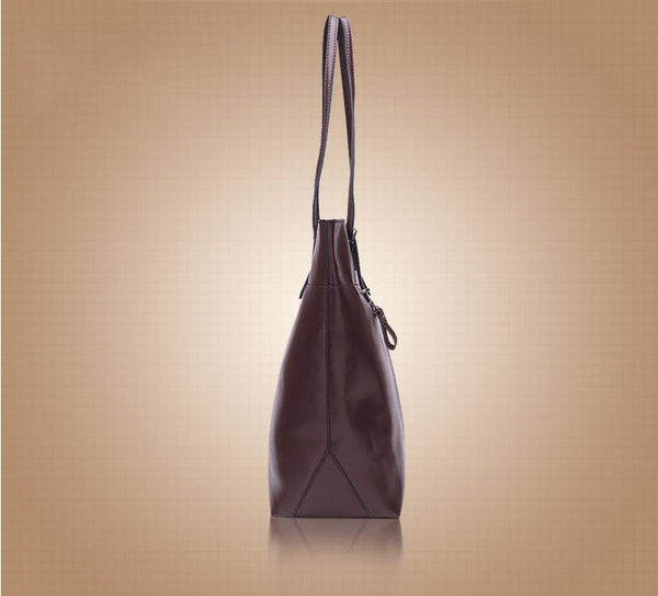 Genuine Leather Tote - Belle Valoure - 22