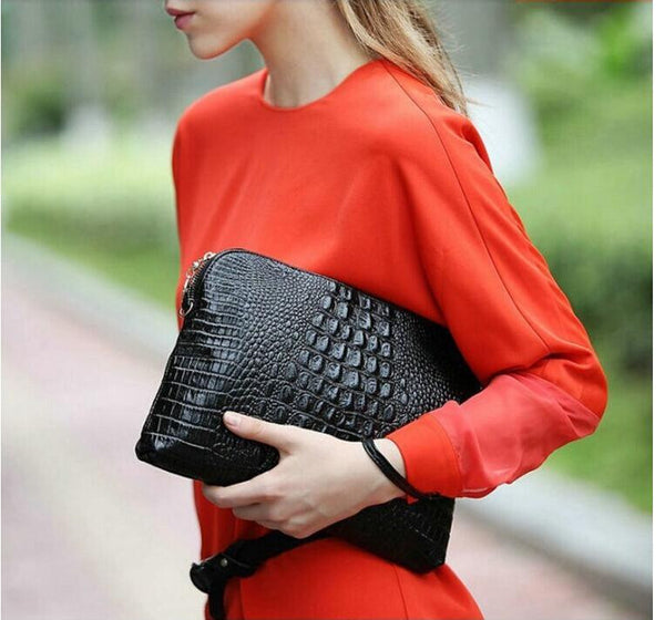 Mila Genuine Leather Crocodile Shoulder Bag - Belle Valoure - 4