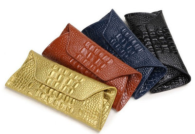 Genuine Leather Alligator Clutch - Belle Valoure - 2