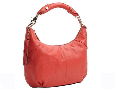 Genuine Leather Shoulder Bag - Belle Valoure - 7