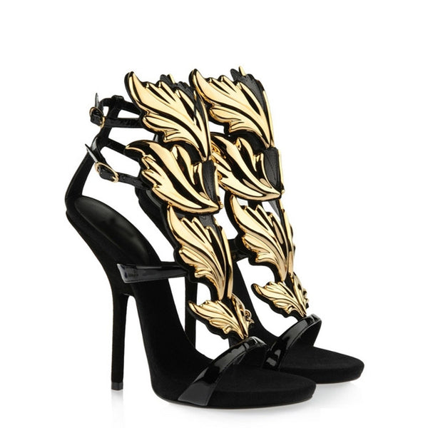 Phoenix Gladiator Strap Sandals - Belle Valoure - 10