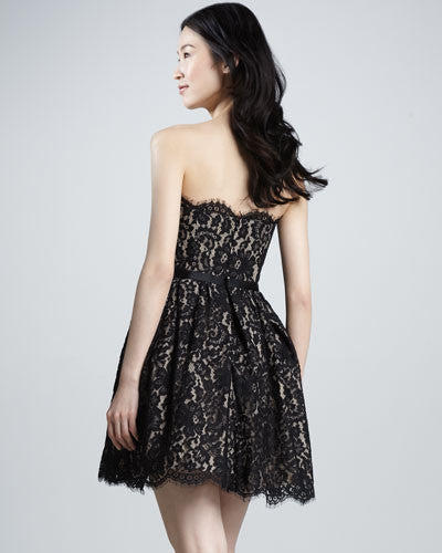 Robert Rodriguez Fit-and-Flare Lace Dress - Belle Valoure - 2