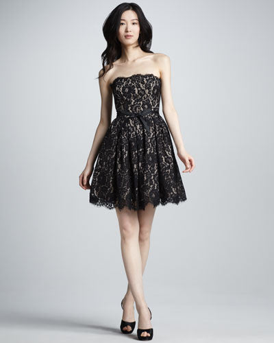 Robert Rodriguez Fit-and-Flare Lace Dress - Belle Valoure - 1