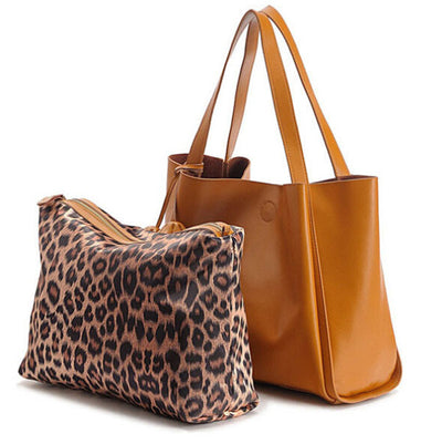 Olivia Genuine Leather Tote - Belle Valoure - 3