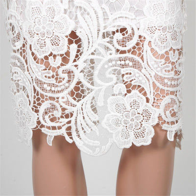 Lace 2 Piece Crochet Dress - Belle Valoure - 4
