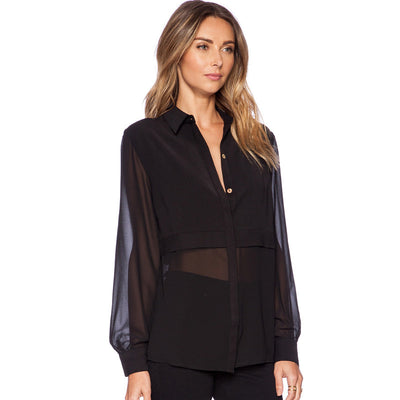 Olivia Chiffon Sheer Blouse - Belle Valoure - 1