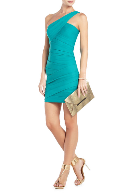 BCBGMAXAZRIA VERSA ONE-SHOULDER COCKTAIL DRESS - Belle Valoure - 1