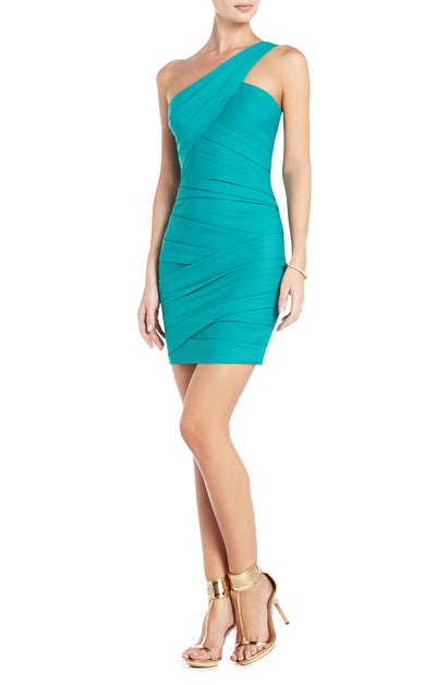 BCBGMAXAZRIA VERSA ONE-SHOULDER COCKTAIL DRESS - Belle Valoure - 2