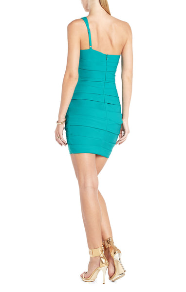 BCBGMAXAZRIA VERSA ONE-SHOULDER COCKTAIL DRESS - Belle Valoure - 3