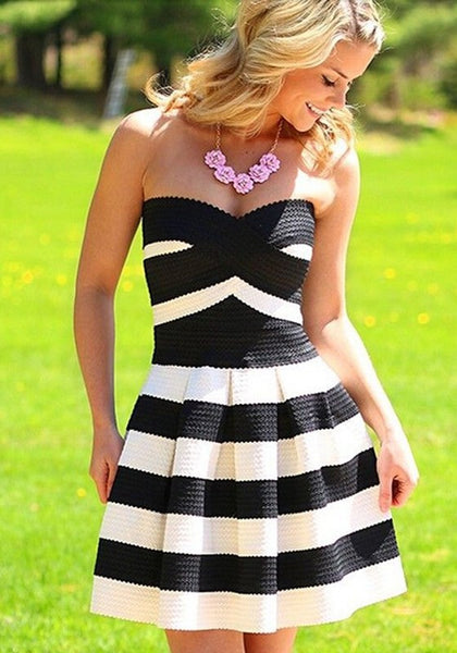 Striped Spring Dress - Belle Valoure - 1