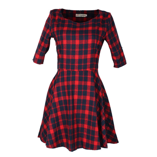 Lila Plaid Dress - Belle Valoure - 1