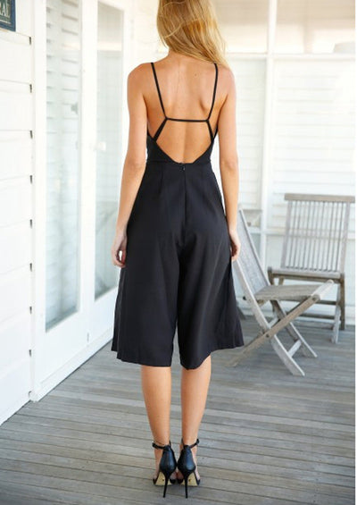 Lila Halter Wide Leg Jumpsuit - Belle Valoure - 2