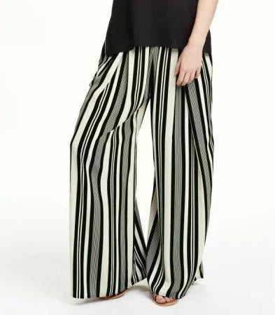 Lila Striped Stretch Trousers - Belle Valoure - 1