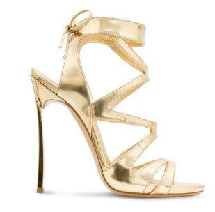 Tamaran Gold Leather Sandals - Belle Valoure - 2
